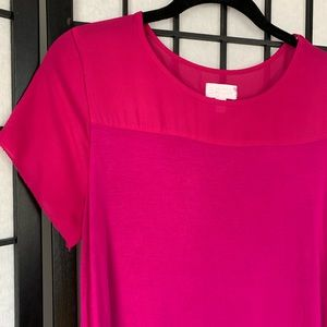 A:Glow Maternity Pink Short Sleeve Blouse